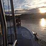 """Anchor"" guiding us in to the marina after a very productive day"
