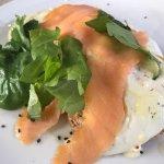 Pink salmon breakfast