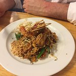 Think this was the tom yum (?) pad Thai! Super hot but amazing!!