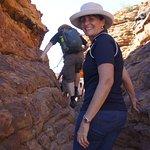 Walking through Priscilla's Crack, King's Canyon