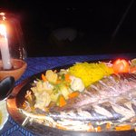 the restaurant serves fresh fish every night, good prices!!!