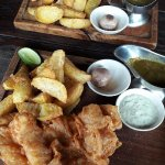 great fish and chips ,, Crispy delicious snapper fillet