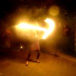 Owner Nikki is a firedancer