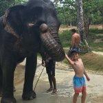 At Sai Rung Elephant camp with Green Andaman