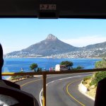 View of Lions Head from the top of the City Sightseeing bus, Blue Route, Cape Town