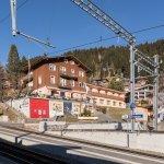 Ansicht vom Bahnhof der Vitznaur Zahnradbahn