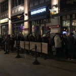 Dishoom Covent Garden - exterior & view of the queue