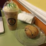 Iced Shamrock Latte + Muffin