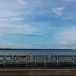 Vista do lago da barragem