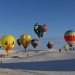 Hot Air Balloon in White Sands