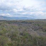 Fahrt durch Lavafelder