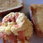 Scrambled eggs & smoked salmon!