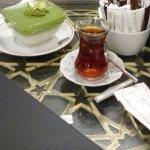 Muhalabia and turkish tea