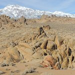 Eastern Sierra Nevada Mountains and rock formations