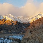 Sunrise on the Eastern Sierra Nevada mountains
