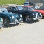 voitures de collection au Clos Vougeot
