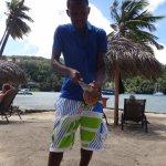 Making us a Loco Coco at the beach