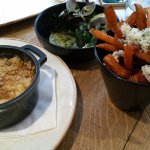 mac and cheese, sweet potato and seafood, starters