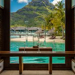 Wedding Chapel at the Intercontinental Bora Bora with Mt. Otemanu as a backdrop.