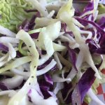 A fresh, vibrant slaw was the perfect compliment to the fish and chips.