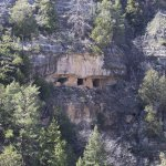 Cliff dwelling in Walnut Canyon, shot from across the canyon.