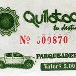 Recibo del Parqueo del lago Quilotoa