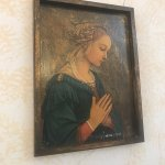 This painting was in our room. It's a copy of Mary from Filippo Lippi's famous painting we saw!