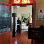 Entrance to the Cup Cafe