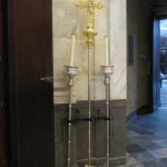 Crucifix with two candles