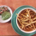 Tortilla Soup with fresh pico and avacoda
