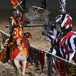 Authentic jousting takes place during the tournament at Medieval Times in Buena Park.