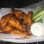Great Wings! Traditional or Smoked, try our Tiki Sauce too!