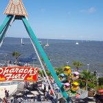 View toward Galveston Bay, from the top of the ferris wheel