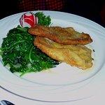 Wiener schnitzel with spinach