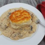 Delicious biscuits and gravy served everyday in our deli from 7-11!