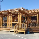 New deck perfect for enjoying a meal from our deli :)