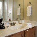 Large vanity & shower serves the Cypress Gardens Suite.