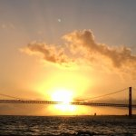 Sunset cruise of the Tagus