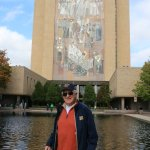 Touchdown Jesus, actually the mural on the Hesburgh library