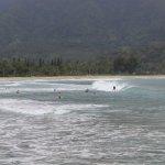 Surfers @ Hanalei Beach / Bay, KAUAI
