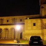Iglesia en Olmedo de noche