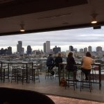 The Tin Roof bar, a block from the Indigo, offers a spectacular view of downtown New Orleans.