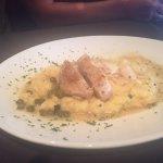 Chicken cordon-bleu with polenta