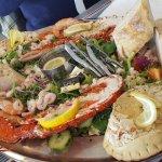 Fantastic seafood platter .