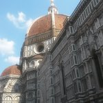 View of the Duomo from a resturant in the square