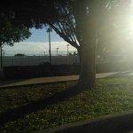 Park area, soccer field