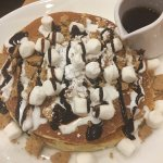 Hot coco, challah French toast, s'mores pancakes.