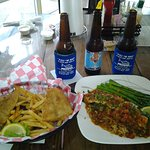 Redfish Basket & Chef Special Redfish with Creole Shrimp & Goliad Beer