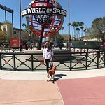 Casey visiting ESPN World of Sports which is just a few minutes from the resort.