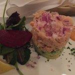 Shrimp, crab, avocado salad